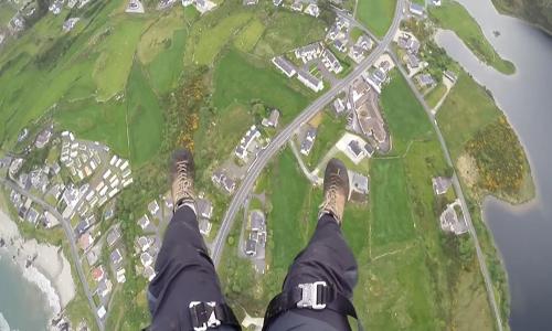 Paracaidísmo en Irlanda. Divisa el país desde el cielo